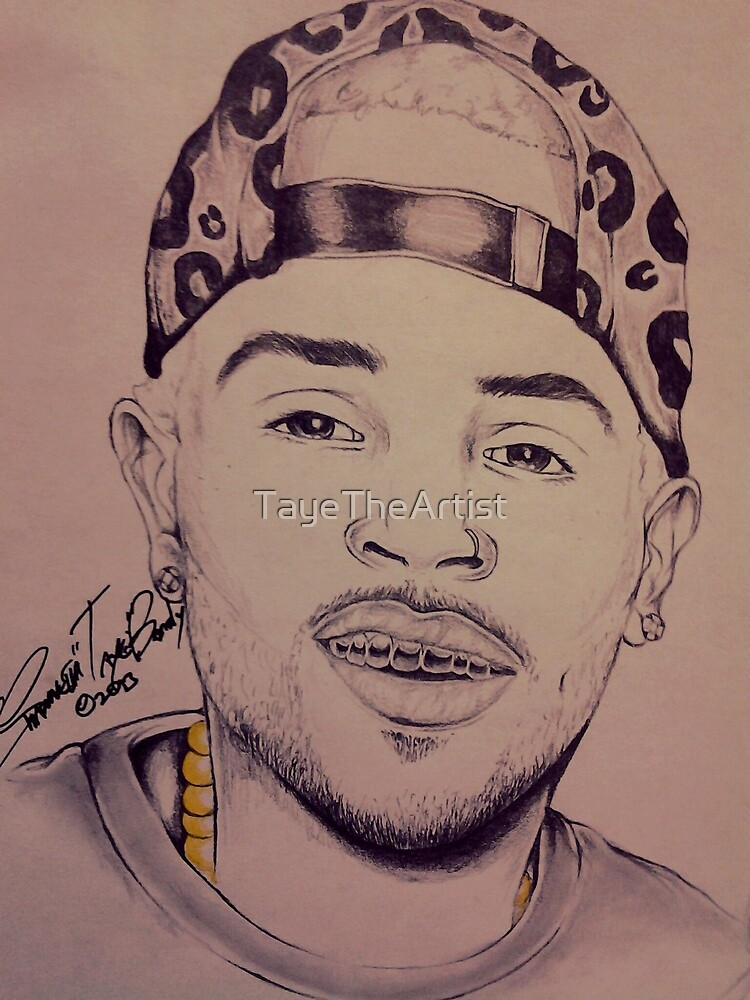 """Chris Brown """"Gold In My Mouth"""" By TayeTheArtist by TayeTheArtist"""
