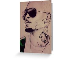 """Chris Brown """"Don't Judge Me"""" By TayeTheArtist Greeting Card"""