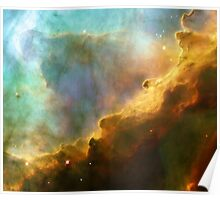 Swan Nebula, M17, cradle for stars, space, astronomy, science Poster