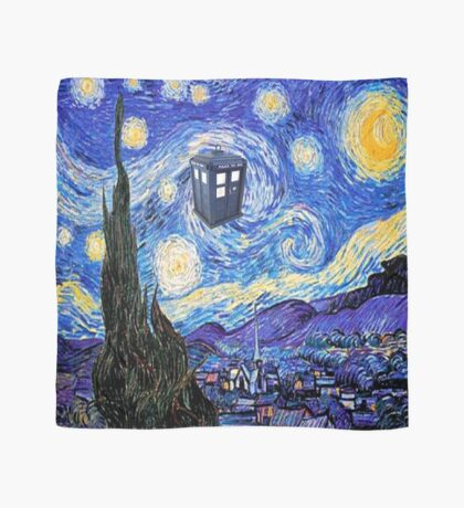 Starry Night Inspiration Doctor Who Tardis Products Scarf