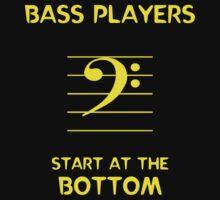Bass Players Start at the Bottom by Samuel Sheats