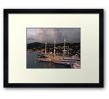 Harbor Lights Framed Print