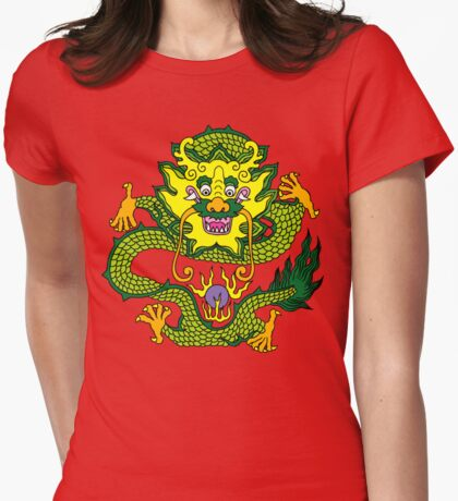 Chinese Dragon T-Shirt Womens Fitted T-Shirt