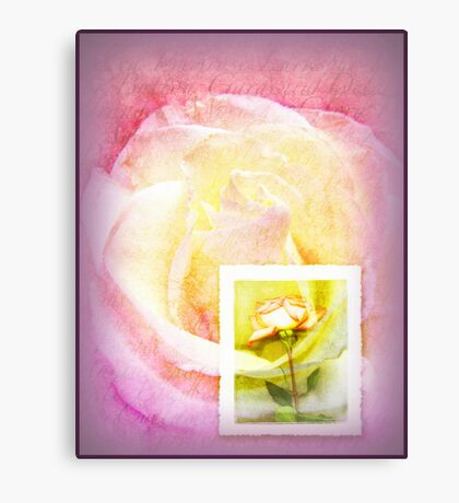 Message in Pastel Canvas Print