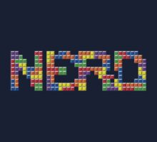 Tetris Nerd  Kids Tee