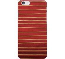 Red and Gold Organic Stripes iPhone Case/Skin