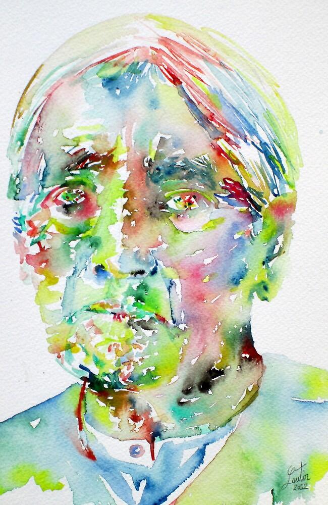 JIDDU KRISHNAMURTI watercolor portrait.1 by lautir