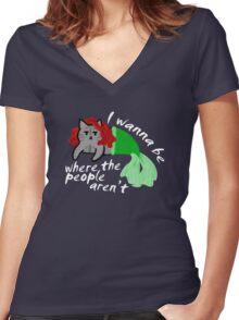 The Little Mercat Women's Fitted V-Neck T-Shirt