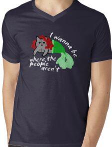 The Little Mercat Mens V-Neck T-Shirt