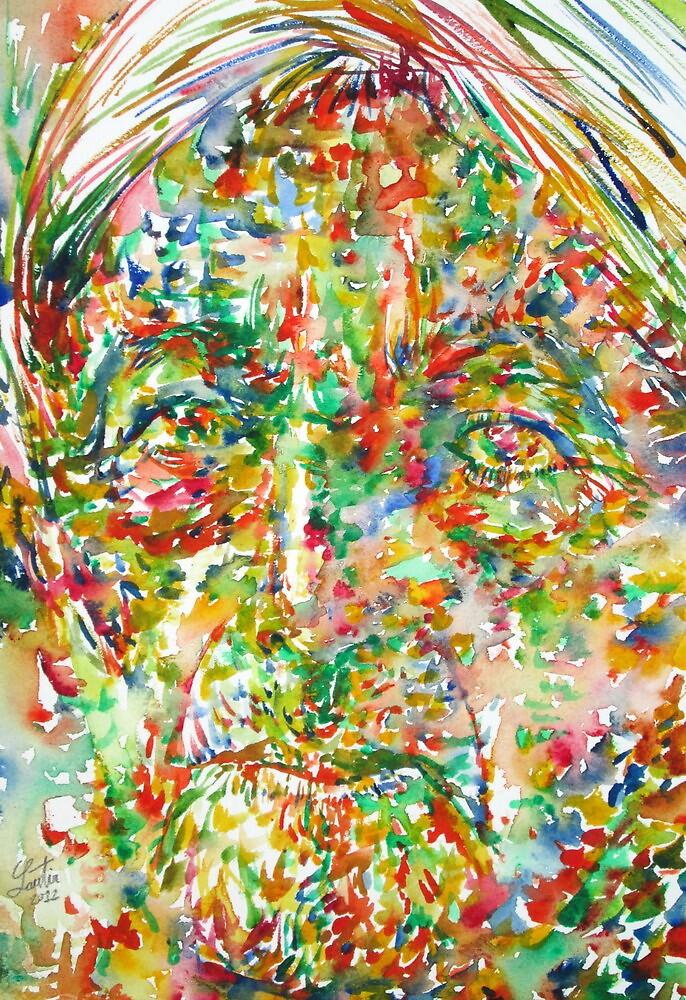 JIDDU KRISHNAMURTI watercolor portrait.2 by lautir