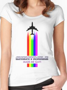 CHEMTRAILS MADE ME GAY! Women's Fitted Scoop T-Shirt