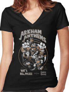 Bat's All, Folks! Women's Fitted V-Neck T-Shirt