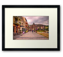 Blue Mountain Village Framed Print