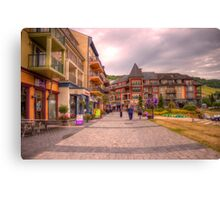 Blue Mountain Village Canvas Print