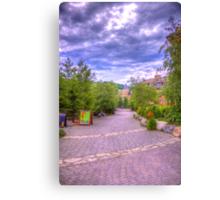 Blue Mountain path Canvas Print