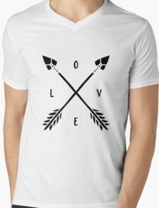 Arrow LOVE Mens V-Neck T-Shirt