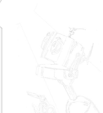 Robot in the Spotlight Sticker