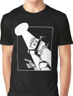 Robot in the Spotlight Graphic T-Shirt