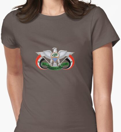 Coat of arms of North Yemen 1962–1990 Womens Fitted T-Shirt