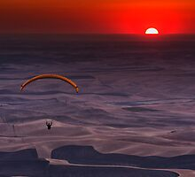 Sunset Paragliding - Steptoe Butte by Mark Kiver