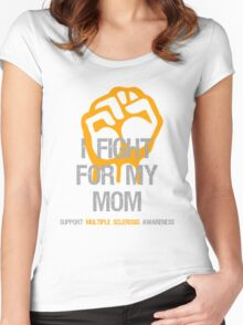 I Fight Multiple Sclerosis MS Awareness - Mom Women's Fitted Scoop T-Shirt