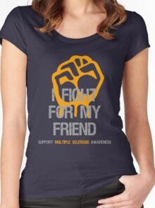 I Fight Multiple Sclerosis MS Awareness - Friend Women's Fitted Scoop T-Shirt