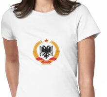 Coat of arms of the People's Republic of Albania (1946–1991) Womens Fitted T-Shirt