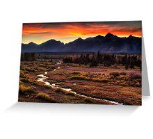 Blacktail Sunset in Grand Teton Greeting Card