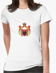 Royal Coat of arms of Albania Womens Fitted T-Shirt