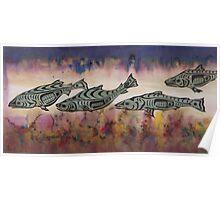 Underwater Salmon  Poster