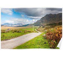 Landscape, Single track road, Kinloid to Loch Morar Poster