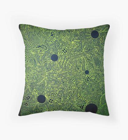 The War is Green Throw Pillow