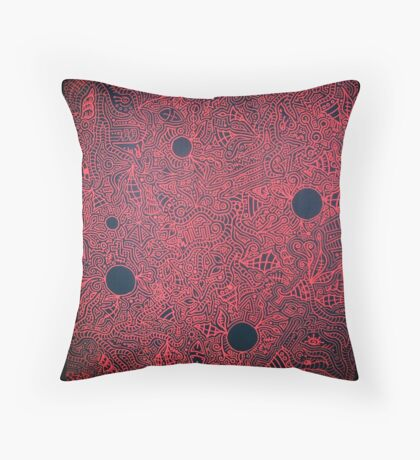 The War is Red Throw Pillow
