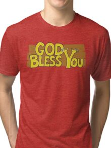 "Christian ""God Bless You"" T-Shirt Tri-blend T-Shirt"