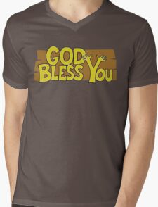 "Christian ""God Bless You"" T-Shirt Mens V-Neck T-Shirt"