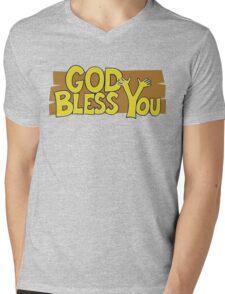 "Christian ""God Bless You"" T-Shirt Mens V-Neck T-Shirt"