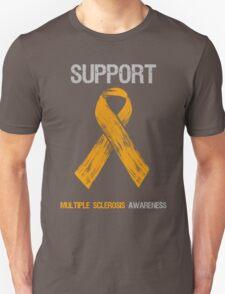 Orange Ribbon Multiple Sclerosis Awareness Unisex T-Shirt
