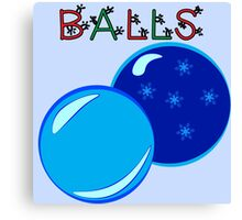 Blue Balls Canvas Print