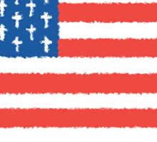 Christian American Sticker