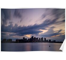 Boston Harbor Storm Clouds Poster