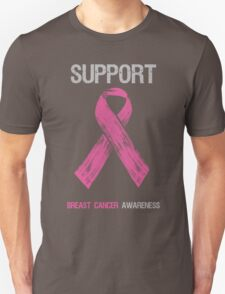 Breast Cancer Awareness Support Ribbon Unisex T-Shirt