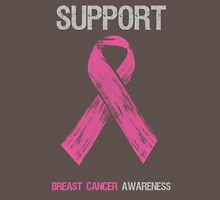 Breast Cancer Awareness Support Ribbon Womens Fitted T-Shirt