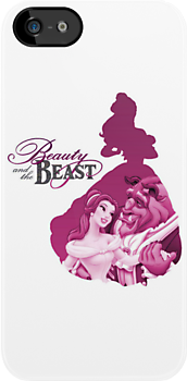 Beauty & the Beast silhouette by sweetsisters