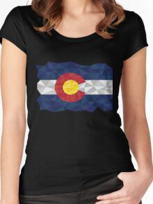 colorado polygon Women's Fitted Scoop T-Shirt