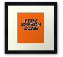 Free Speech Zone Framed Print