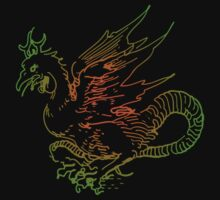 Green and Red Dragon by Archpress