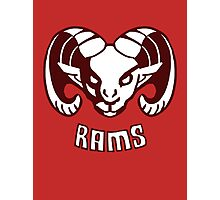 Rams  EDIT- CLEANED UP DESIGN Photographic Print