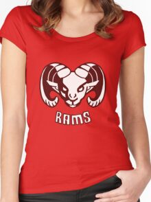 Rams  EDIT- CLEANED UP DESIGN Women's Fitted Scoop T-Shirt
