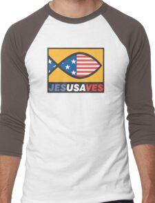 """Christian """"JesUSAves"""" Men's Baseball ¾ T-Shirt"""