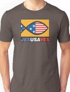 """Christian """"JesUSAves"""" Unisex T-Shirt"""